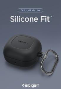 Case Galaxy Buds Live - Spigen Silicon Fit (chính hãng)